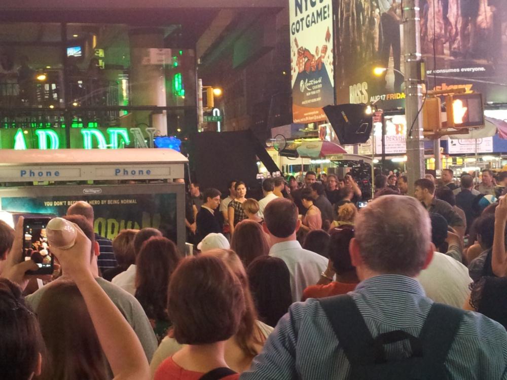 Rodaje de la serie Smash en Times Square